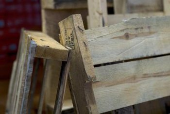 Pallets are often free for the taking at large department stores or home improvement centers.