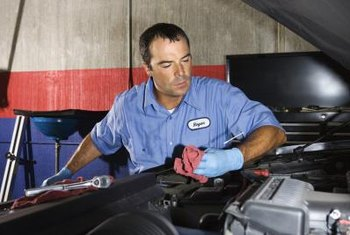 Auto mechanics maintain and fix engines.