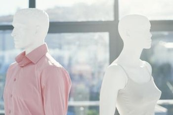 Mannequins add a decorative flair while providing functionality as clothing displays.