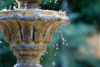 Keeping water flowing in a fountain or waterfall pool prevents mosquitoes from breeding.