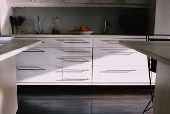 Fascia is used on the front edge of cabinets.
