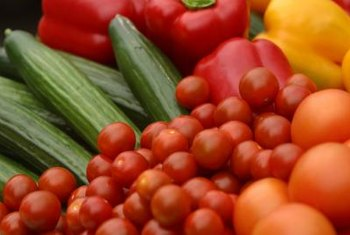 Tomatoes and peppers are widely grown home garden vegetables in the U.S.