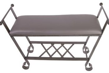 Upholstering a bench with vinyl is similar to working with woven fabrics.