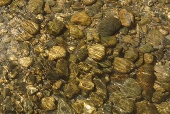 Water-worn river stones can be used in different ways.