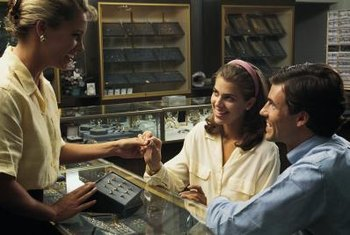 Enthusiasm and a rapport with customers are positive traits for a jewelry store salesperson.