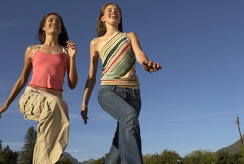 Both running and exercising on mini trampolines produce health benefits.