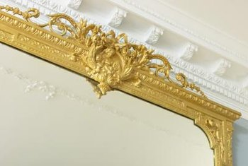 Clean antique mirrors gently to avoid scratching.