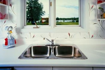 Stainless steel sinks come in a variety of sizes to fit the existing hole in your counter.
