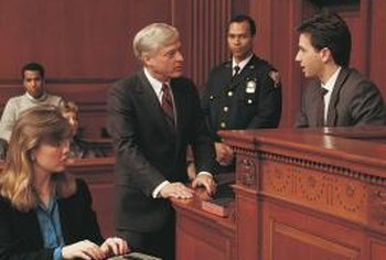 An opening statement is part of the trial.
