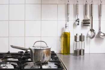 Accessorize your kitchen walls with useful items.