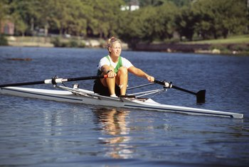Female rowers are muscular and yet relatively lean.