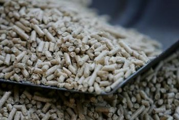 Wood pellets typically derive from sawdust and wood shavings.