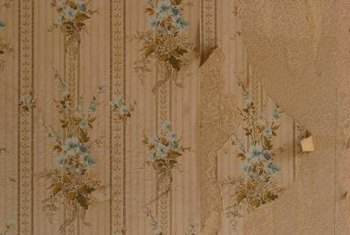 If your wallpaper is peeling, always check the state of the plaster before reattaching it.