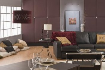 Rooms with dark, square furniture often feel masculine.