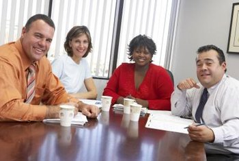 A human resources team often shares department responsibilities.