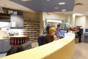 Medical receptionists work in environments that range from small offices to hospitals.