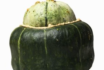 Buttercup squash is dark green, sweet-flavored, and has a turban-like shape