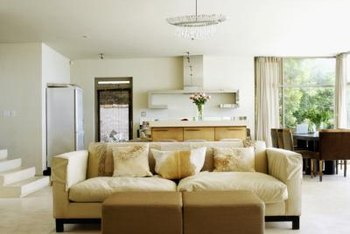 Neutral white curtains fit most room designs.
