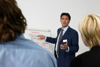 Frequent presentations mean marketing managers need strong communications skills.
