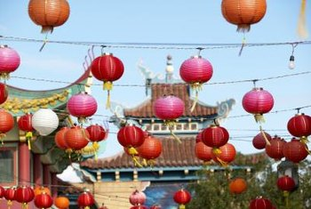 Chinese lanterns are a beautiful option for decorating.