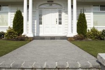 Decorating the front porch columns can make your home more inviting.