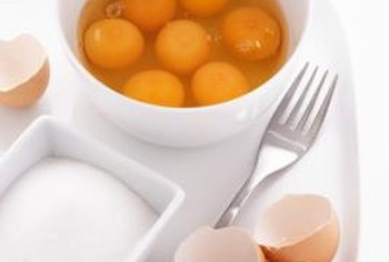If cholesterol is a concern, you can leave some egg yolks out of your sausage and egg casserole.