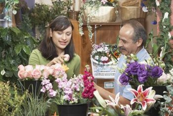 You can train as a florist by enrolling in a floral school or college with classes for florists.