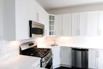 You can paint your dishwasher in a stainless-steel color to match other appliances in the kitchen.