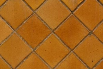 Cutting the edges of your diamond tile pattern may require a wet saw.