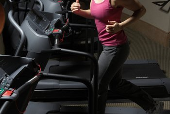 A treadmill has various speeds and inclines to keep your workout challenging.
