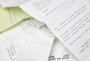 Dot matrix printers produce receipts and bills of lading.