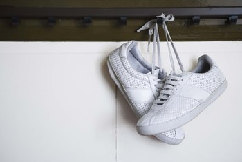 White leather tennis shoes or court shoes are best bright and snowy.
