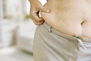 Exercise and a healthy diet can eliminate excess belly fat.