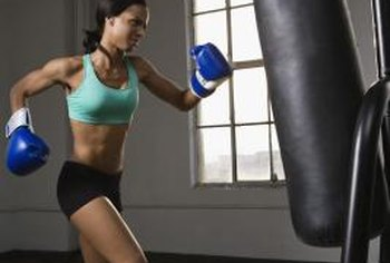 Using a punching bag allows you to improve your boxing fundamentals.
