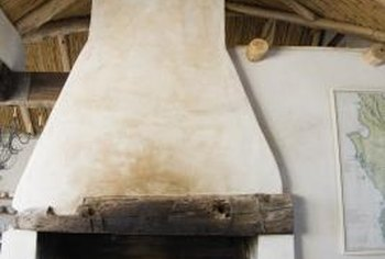 Set off a chimney in an open-beam ceiling with an attractive accessory.