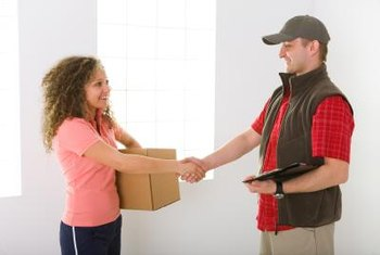 Couriers need to have a friendly manner toward clients.