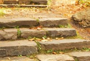 Add stones to small ledges to create steps.