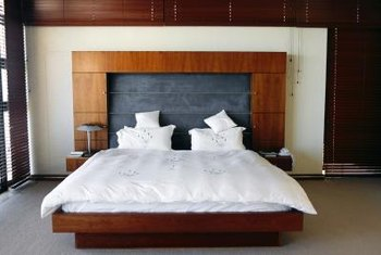 A bedspread can be the focal point of a bedroom.