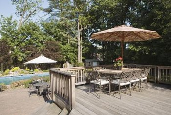 A deck is an ideal hardscape for your yard to extend your home's living space.