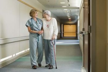 Aides and practical nurses help patients with their ordinary, day-to-day needs.