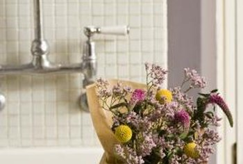 Backsplashes can also be used behind utility or laundry sinks.