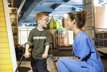 Occupational therapists often work with disabled children.
