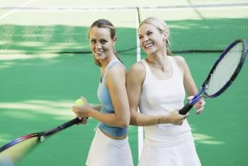 Doubles tennis provides a moderate-intensity workout.