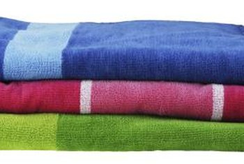 Colorful towels double as bathroom decor.
