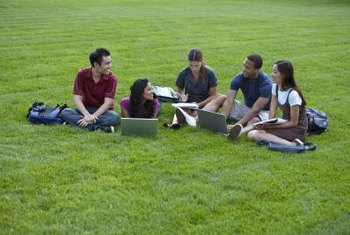 Group study sessions are made easier when students all have laptops.