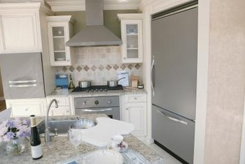 Finish your refrigerator cabinet to blend in with other cabinetry.