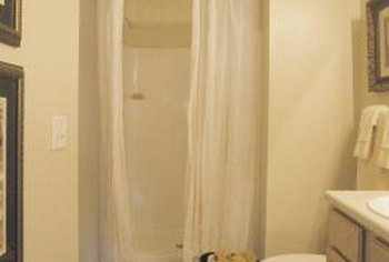 Keep your shower curtain clean to prevent mildew growth.