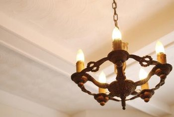 Chandeliers often weigh too much for an electrical box to support.