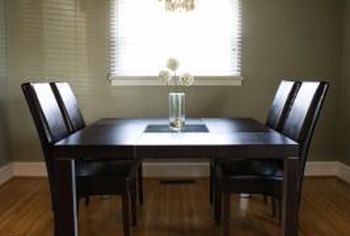 Ample spacing around a dining table allows guests to dine comfortably.
