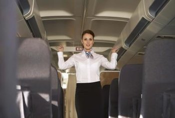 Pretzels or peanuts? Flight attendants make sure airline customers are comfortable.